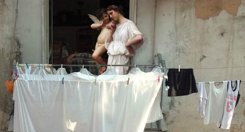 Alexey Kondakov dà vita ai quadri rinascimentali nelle strade di Napoli