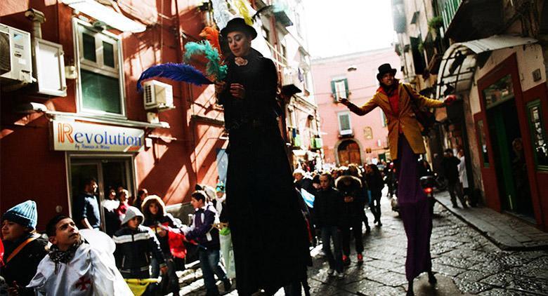 Carnevale 2017 al Rione Sanità di Napoli con sfilata