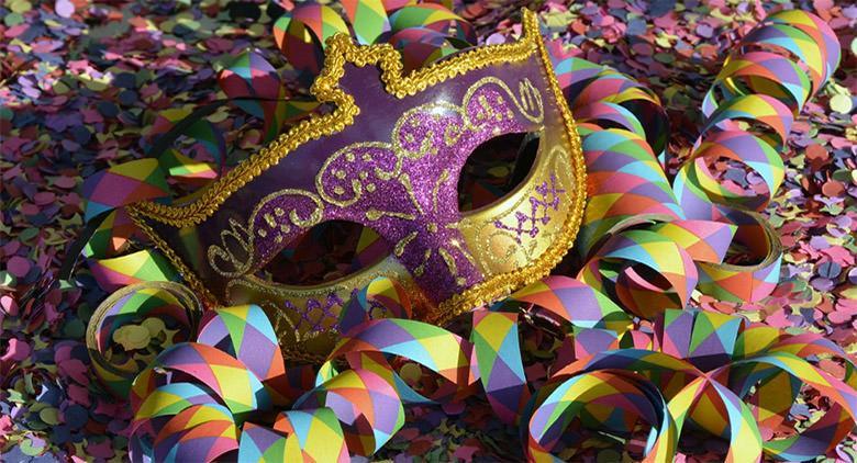 Carnevale 2017 del centro storico a Napoli con siflata