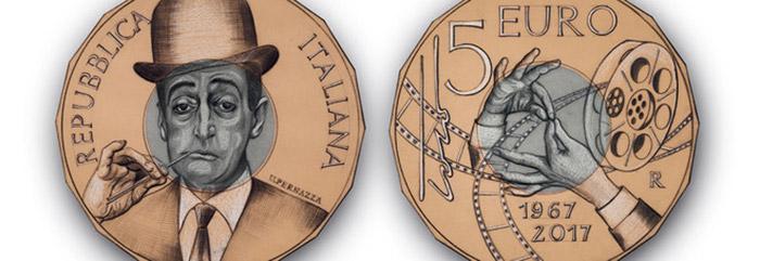 Le due facce della moneta da 5 euro per Totò