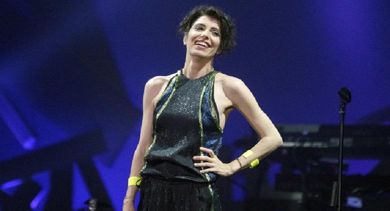 Giorgia in concerto al Palapartenope di Napoli con l'Oronero Tour