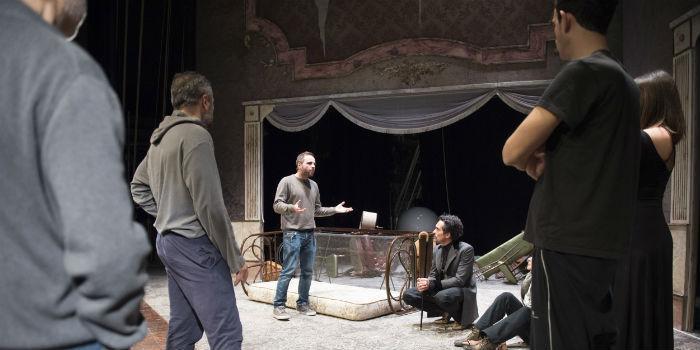 Le prove dello spettacolo Il Giocatore al Teatro Bellini di Napoli