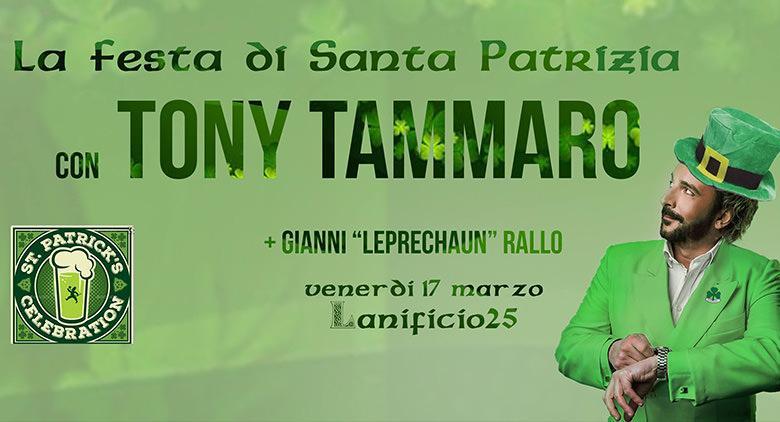 Concerto di Tony Tammaro al Lanificio 25 di Napoli per San Patrizio