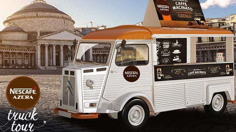 Arriva a Napoli il Truck Tour di Nescafè Azera
