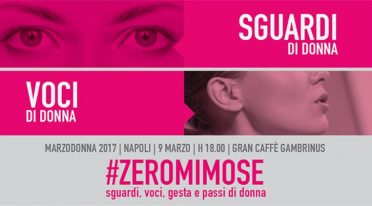 At Caffè Gambrinus in Naples, #Zeromimose for the 2017 Women's Day
