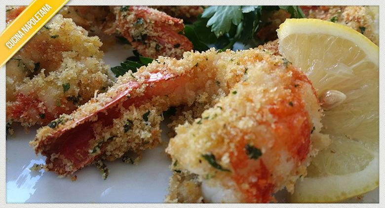 Ricetta dei gamberi gratinati tipica della cucina napoletana