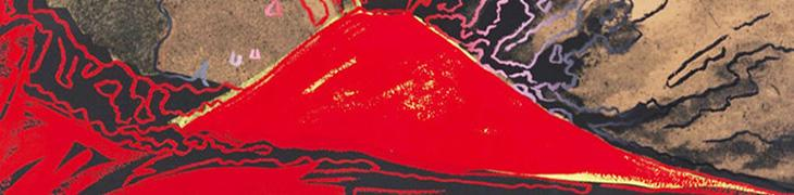 Litografia Vesuvius Rosso di Andy Warhol