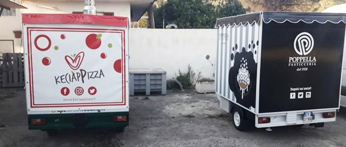 Porzio e Poppella a Piazzale Tecchio a Napoli con gli apecar