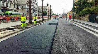 Die Arbeiten werden bis September 2017 in der Via Marina in Neapel fortgesetzt