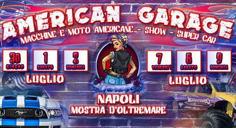 American Garage alla Mostra d'Oltremare di Napoli con auto e moto americane