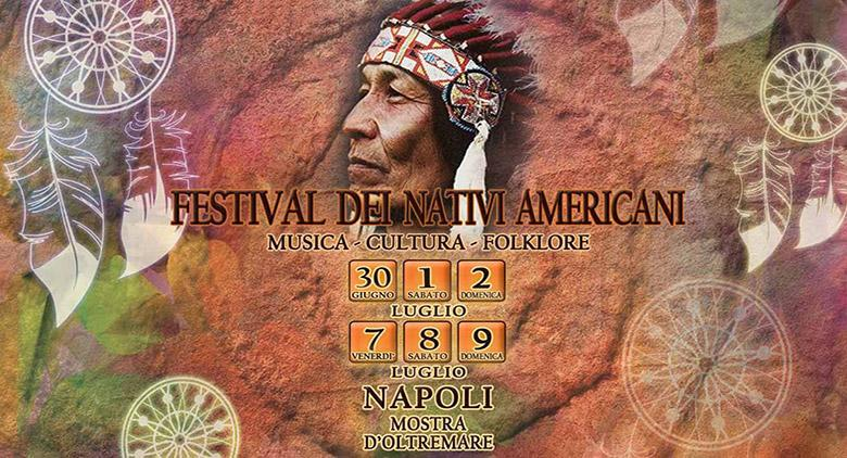 Auf der Mostra d'Oltremare das Indianerfest