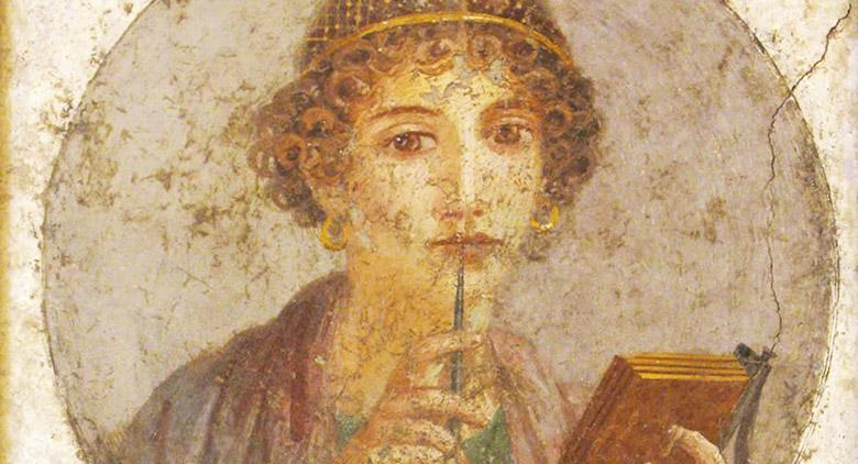 Ritratto di Saffo al Museo Archeologico di Napoli