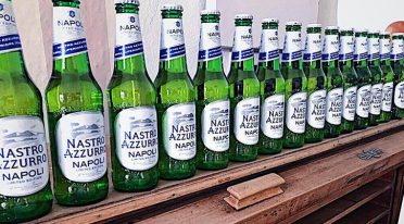 Blue ribbon beer dedicated to Naples