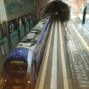 Un modello del nuovo treno della Cumana a Napoli
