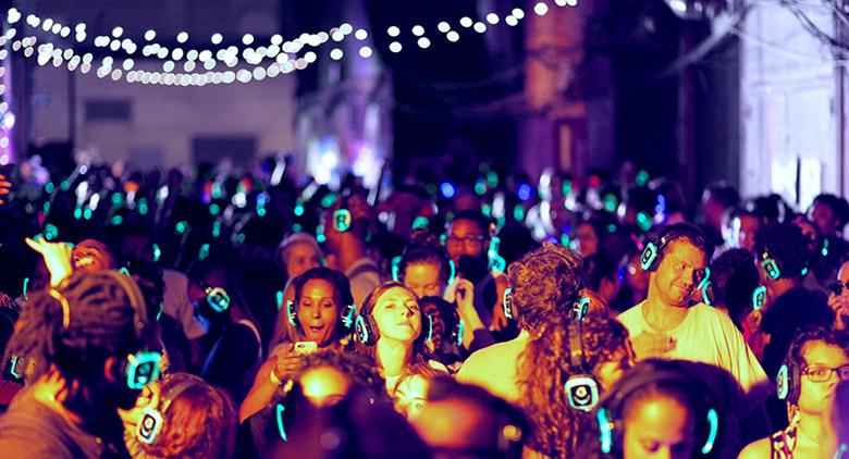 Silent Disco in Naples at the Nights of the Nile