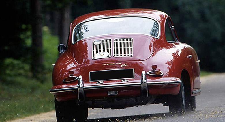 Porsche al raduno di auto d'epoca a Chiaiano