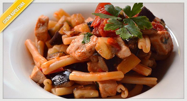 Pasta with swordfish ragout, Neapolitan recipe