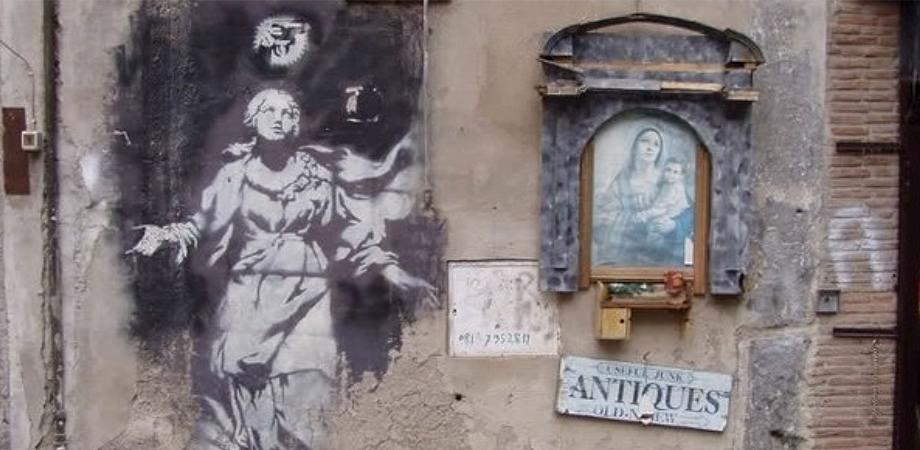 Madonna con la pistola, Murales di Banksy a Napoli