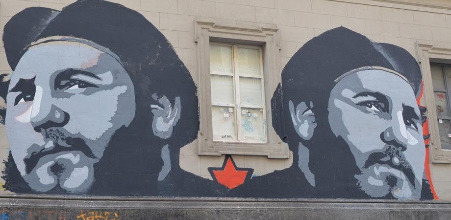 Murales di Fidel Castro a Napoli