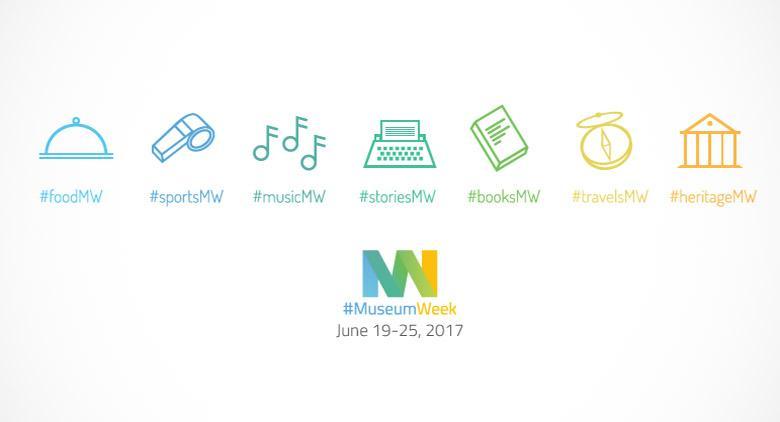 Locandina della MuseumWeek, anche a Napoli la settimana dei musei su Twitter