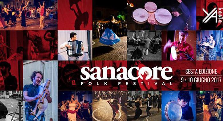 Locandina del Sanacore Folk Festival 2017 a Scisciano