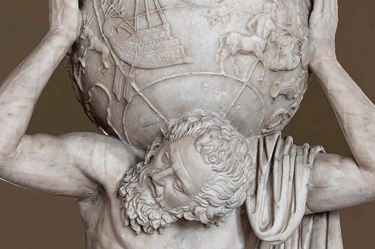 Atlante Farnese al Museo Archeologico di Napoli