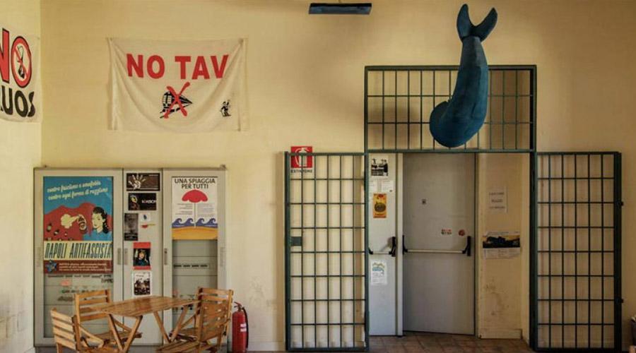 Interno dell'ex Asilo Filangieri a Napoli
