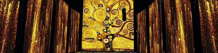 Installazione della mostra Klimt Experience