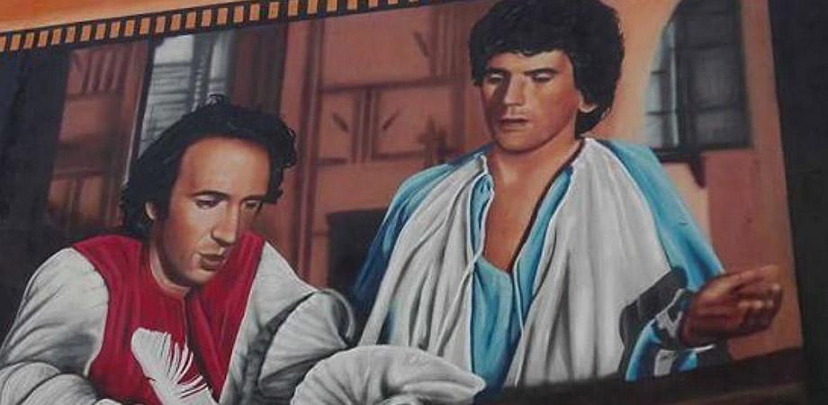 Murales dedicato a Troisi
