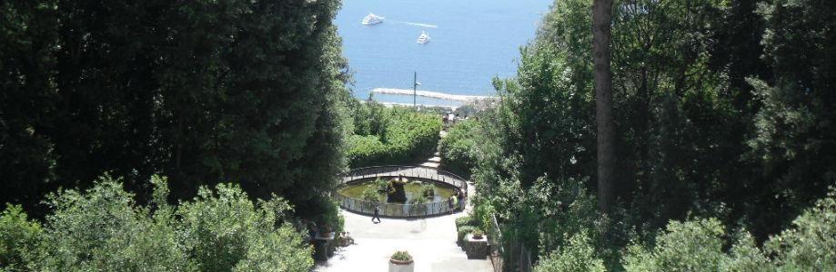 Vista del Panorama della Villa Floridiana a Napoli