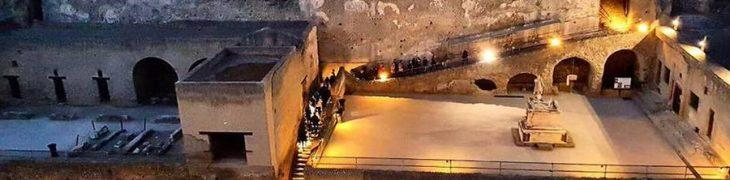 Excavations of Herculaneum open at night at 2 euro