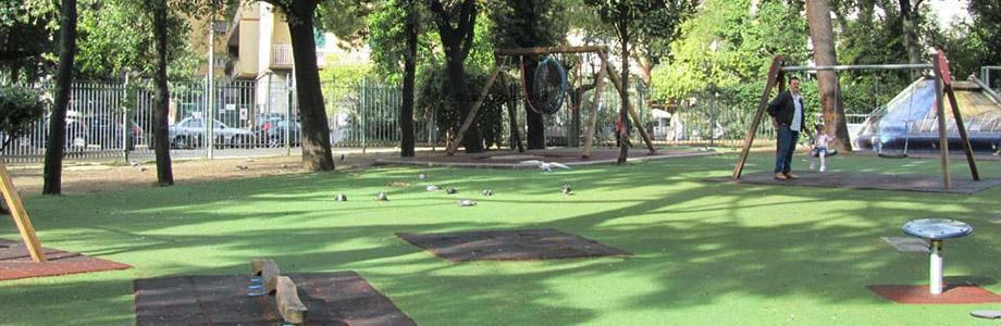 Сады Руопполо в парке Масканья в Неаполе