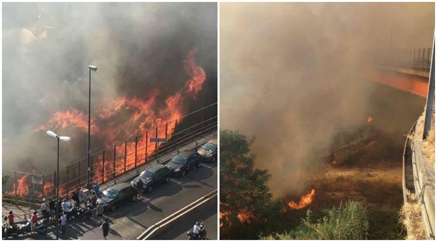 Incendio via Caldieri al Vomero