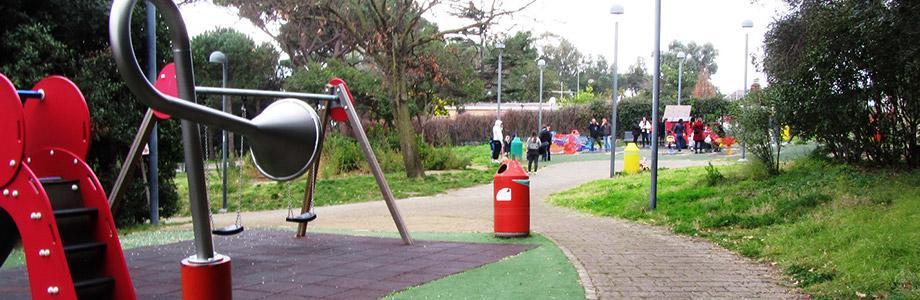 Детская площадка в Вирджилиане в Неаполе
