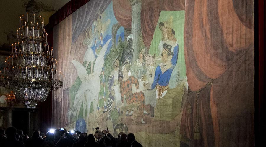 L'opera Parade della mostra di Picasso al museo di Capodimonte a Napoli che si chiuderà con eventi ed aperture straordinarie
