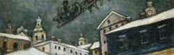 Russian Village, una delle opere di spicco esposte nella mostra di Chagall a Sorrento