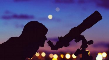 Beobachtungen der Sterne im Teleskop