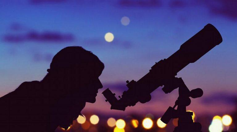 望遠鏡の星の観察