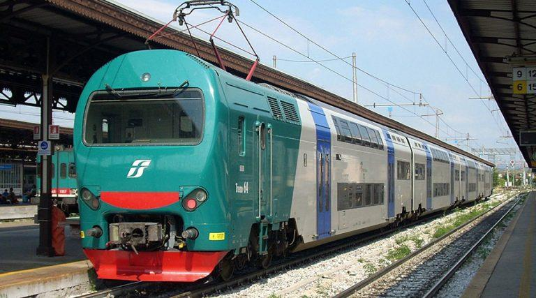 Trenitalia trains stop at Torre Annunziata Station for the collapse of the building