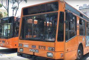 حافلة ANM في نابولي ، إضراب 24 في أغسطس 2017