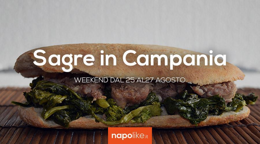 Sagre in Campania nel weekend dal 25 al 27 agosto 2017