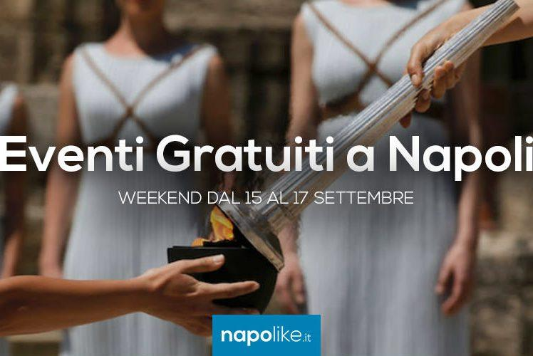 Eventi gratuiti a Napoli nel weekend dal 15 al 17 settembre 2017