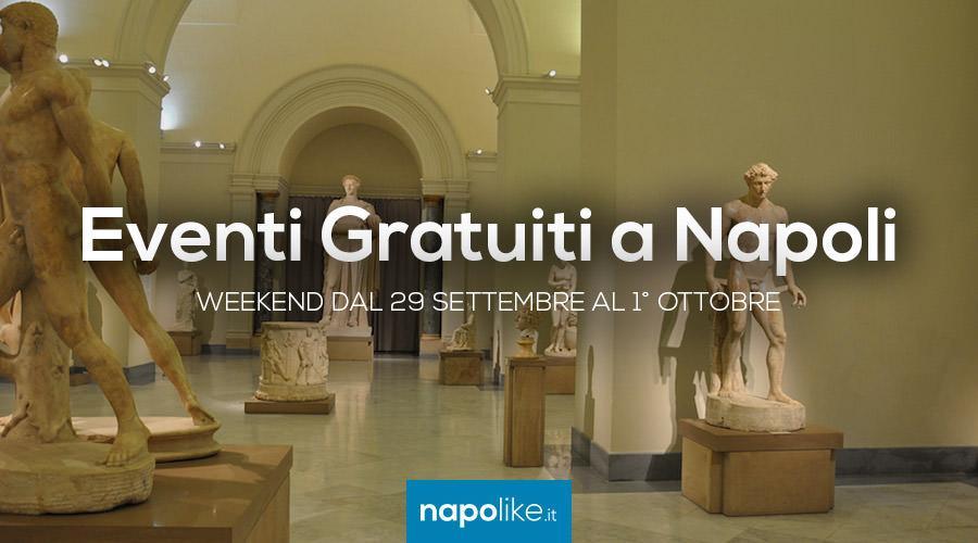 Eventi gratuiti a Napoli nel weekend dal 29 settembre all'1 ottobre 2017