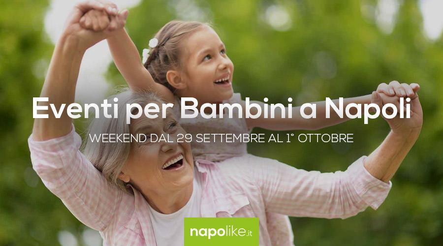 Eventi per bambini a Napoli nel weekend dal 29 settembre all'1 ottobre 2017