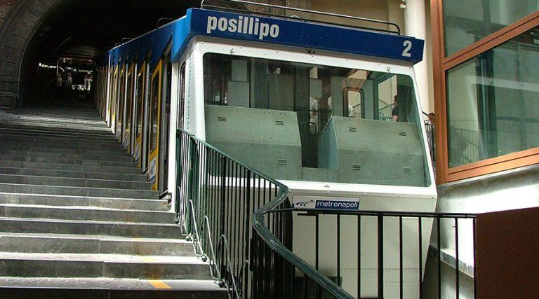 Funicular of Mergellina in Naples