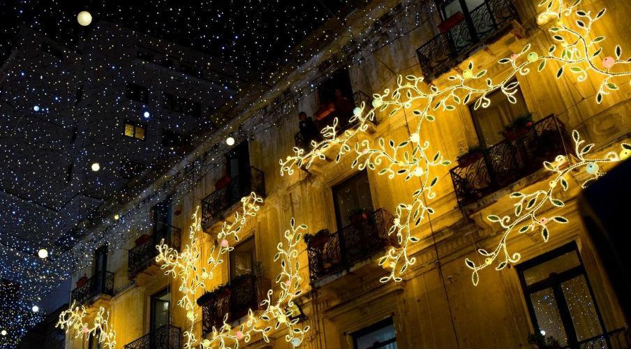 luminarie per le luci d'artista 2017 a Salerno