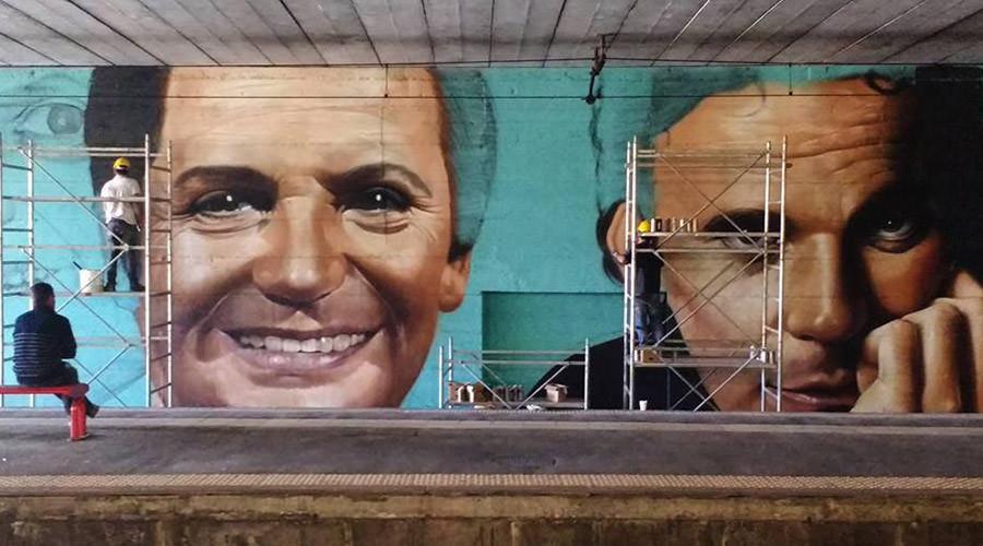 Murale per Troisi e Noschese a San Giorgio a Cremano