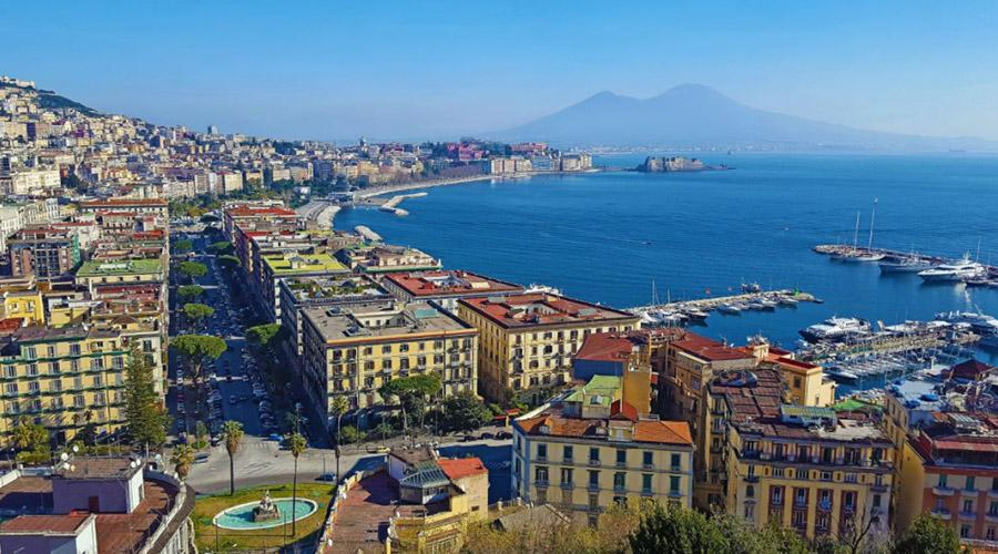 Panorama of Naples from above