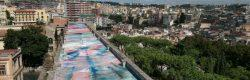 L'opera di 1500 mq del pittore Zabetta realizzata sul tetto dell'ex ospedale militare di Napoli