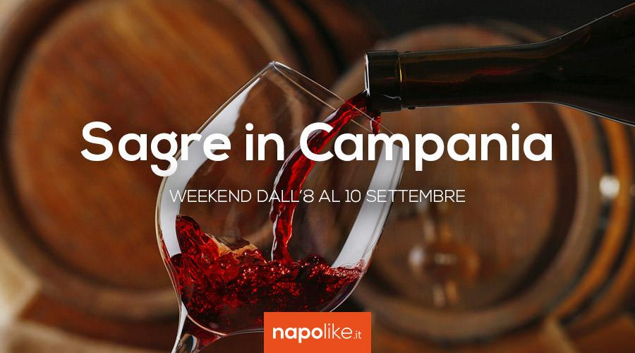 Sagre in Campania nel weekend dall'8 al 10 settembre 2017